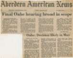 Final Oahe hearing broad in scope