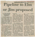 Pipeline to Elm or Jim proposed