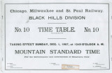 Chicago, Milwaukee and St. Paul Railway. No. 10 Time Table