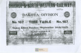 Chicago and North Western Railway. No. 167 Timetable