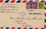 Airmail to Rose from Ailene, 1944